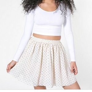 AMERICAN APPAREL Chiffon Polka Dotted Skirt XS/S
